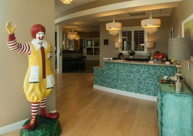 Reception Area Ronald McDonald House Eastern North Carolina